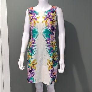 Roz & Ali WOMANS floral fitted dress SZ.10